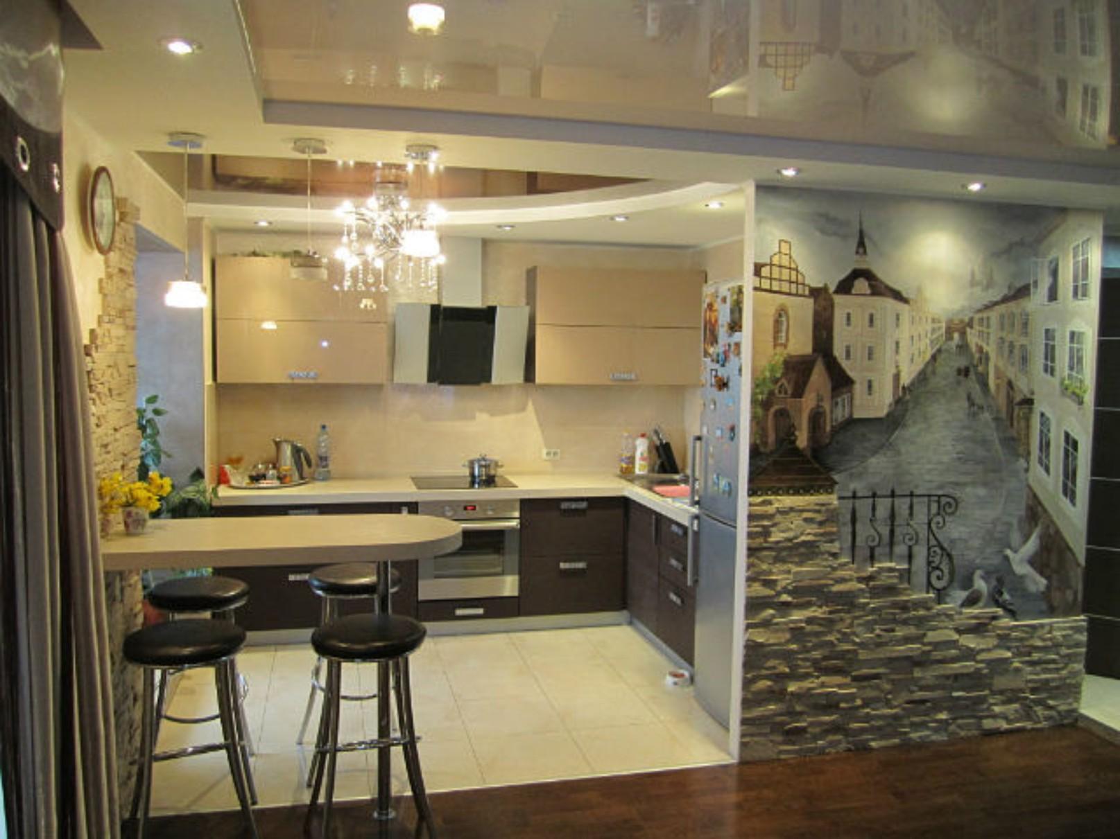 Ремонт кухни гостиной своими руками фото
